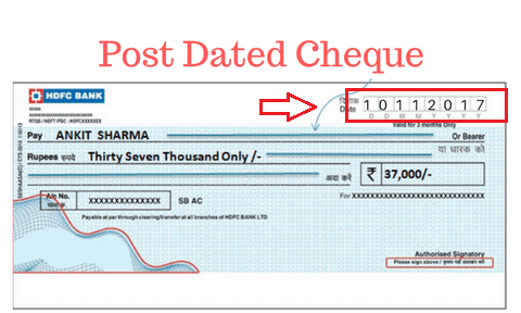 Post dated check
